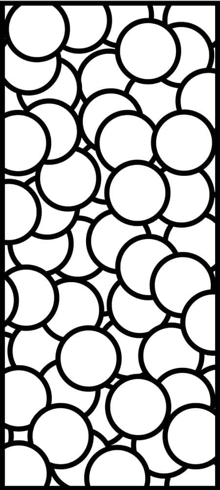 Bubbles laser cut design