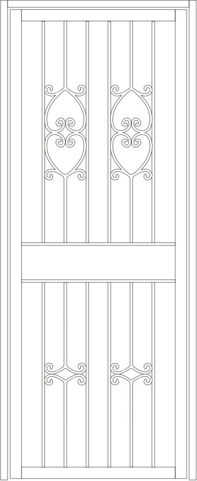 Leura steel door
