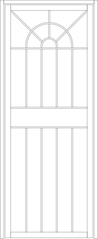 Oberon steel door