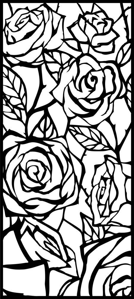 Vintage Rose laser cut design