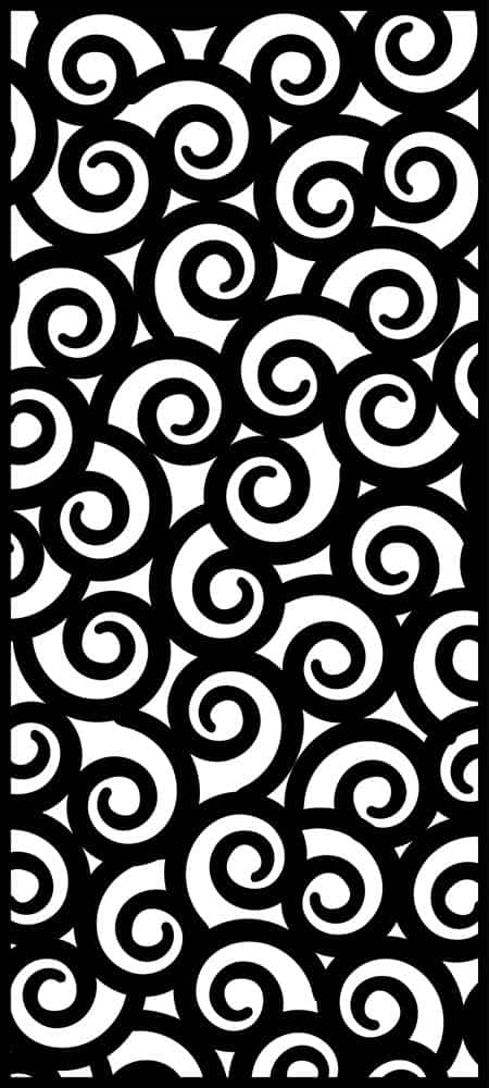 Swirl laser cut design