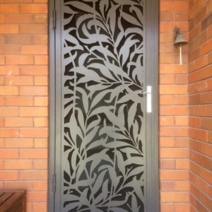 laser cut screen door