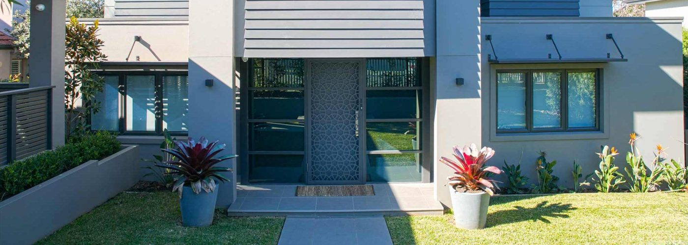 residential home with security steel door